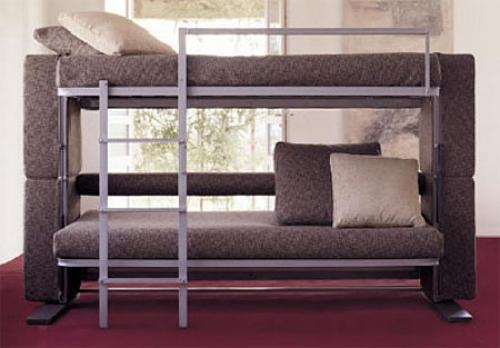 Ganhe espa o sof que vira beliche pr tico e vers til for Sofa que vira beliche