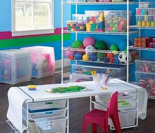 Ideias criativas para guardar os brinquedos das crianças  Casa e