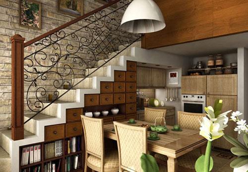 Resultado de imagem para Como utilizar aquele espaço embaixo da escada? Entenda Antes!