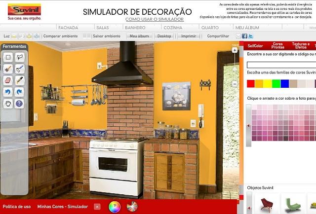 F bio asdente im veis novo simulador ajuda a pintar e for Simulador de casas