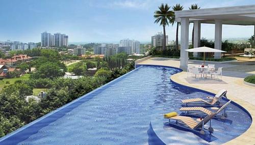 Piscina de borda infinita valoriza arquitetura do im vel - Condominio con piscina milano ...