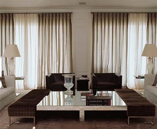 Saiba quais s o os tecidos mais indicados para cortinas for Cortinas de casas modernas