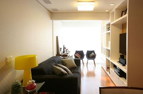 Kinect Em Sala Pequena ~ Na sala projetada pela arquiteta Vanessa Trad a estante cheia de