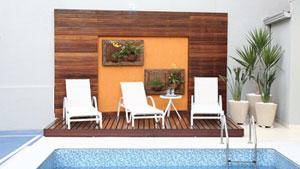 Material traz beleza e proporciona um efeito sofisticado às áreas abertas de jardim, piscina e vara