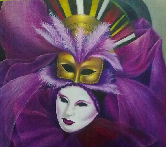 Quadro da artista pl�stica Clarice Barbosa.