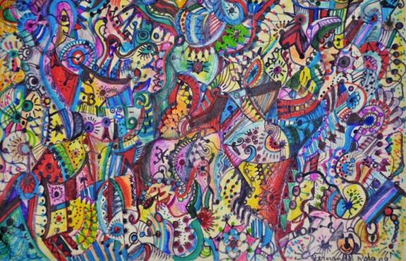 Quadro do artista pl�stico Fernando Rosa.