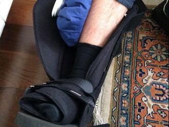 Requi�o sofre acidente ao descer escada
