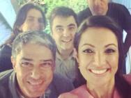 Patr�cia Poeta compartilha festinha surpresa na Globo