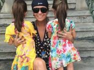 Atriz da Globo posta foto das filhas de costas e � criticada