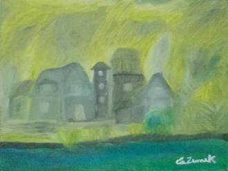 Quadro do artista plástico e curador Carlos Zemek.