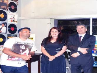 Foto de Luid Ferreira - Os jurados do Concurso Poetizar o Mundo - Declama��o Get�lio Guerra, Jocelino Fretas e Carla Ramos.
