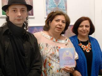O artista pl�stico e curador Carlos Zemek, e as poetas Arriete Rangel de Abreu e Isabel Furini.
