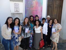 Poetas e artistas pl�sticos participantes da exposi��o.