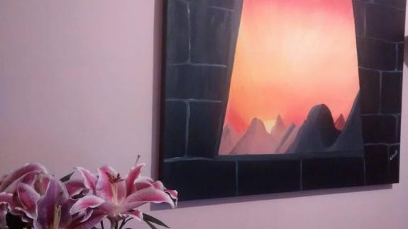 Quadro Janela Inca de Carlos Zemek.