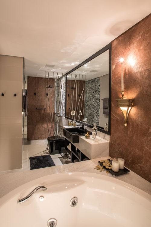 Jogos De Decorar Banheiros De Luxo : Tend?ncia cores escuras levam sofistica??o e luxo aos
