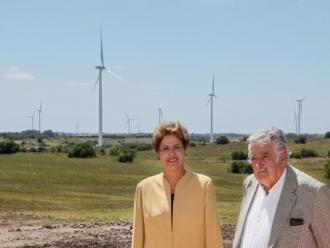 Uruguai e Brasil inauguram parque e�lico constru�do em parceria