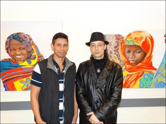 O artista pl�stico Fabrus Mascury e o curador Carlos Zemek.