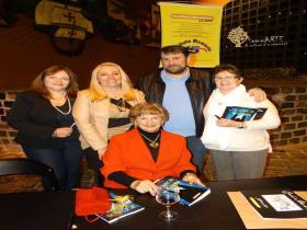 Vanice Ferreira, Neyd Montingelli, leitor, Susana Arceno Silveira e Isabel Sprenger Ribas.