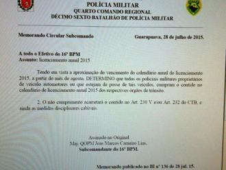 Policiais que atrasarem licenciamento de ve�culos particulares ser�o punidos