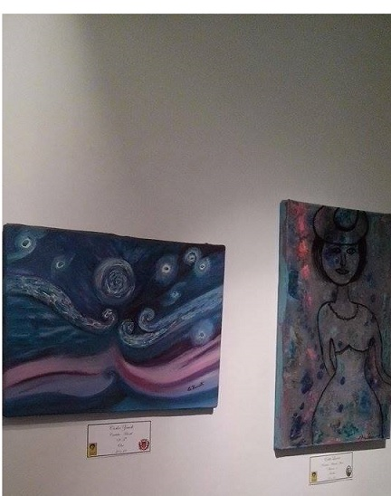 Quadro de Carlos Zemek, da S�rie Azul.