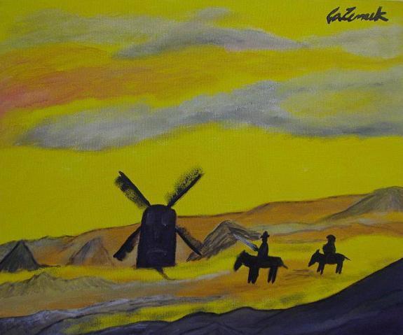 Dom Quixote e os Moinhos de Carlos Zemek