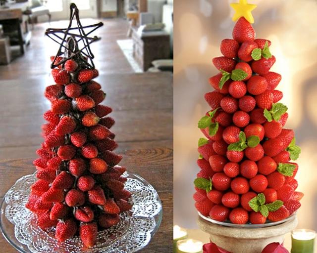 Resultado de imagem para decoração de mesa de natal com frutas