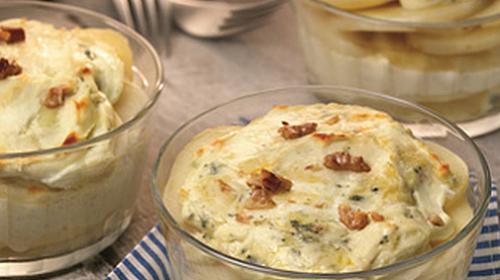 Entradinha de batata e gorgonzola � op��o deliciosa para as festas