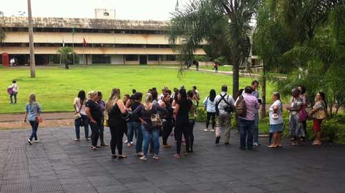 Thamiris Geraldini/Equipe Bonde - Manifestantes foram para Câmara após protesto contra o governador