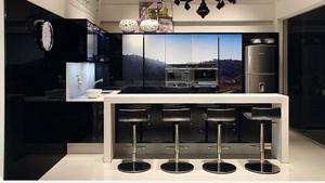 O uso de uma �nica cor nos m�veis da cozinha cria um visual mais clean e agrad�vel, no entanto, � preciso cuidado e equil�brio