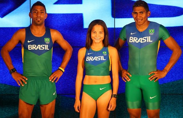 29b8c2e07 Atletismo do Brasil apresenta uniforme  mais rápido  para a ...