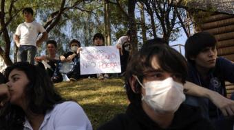 Alunos e professores do IFPR protestam contra obra