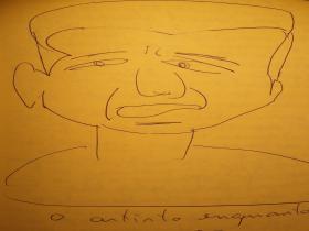 Miguel Sanches Neto - Desenho do Facebook.