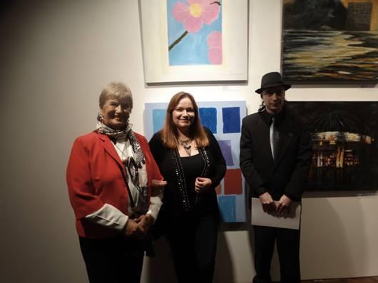 Foto de Luid Ferreira. - Os artistas Isabel Sprenger Ribas, Van Zimerman e Carlos Zemek.