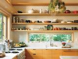 Prateleiras conferem funcionalidade e beleza � cozinha; invista nessa ideia