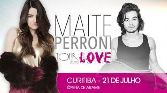 Maite Perroni confirma participa��o de Tiago Iorc em seu show de Curitiba