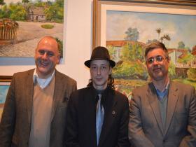 O Sec. de Cultura do Paran�, Jo�o Luiz Fiani, o curador Carlos Zemek e o diretor do Museu Paranaense, Renato Carneiro Jr.