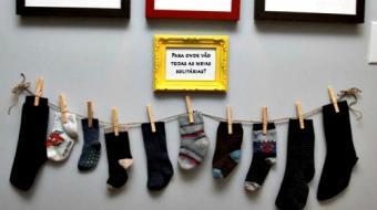 Campanha arrecada meias 'solit�rias' para fabrica��o de cobertores; londrinenses podem participar