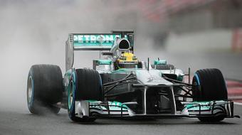 Ap�s chuva forte, Rosberg supera Hamilton e fatura pole na Hungria