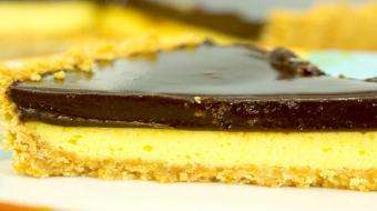 Torta de maracuj� com chocolate vai te deixar com �gua na boca e gostinho de quero mais