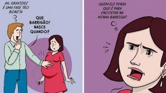S�rie de quadrinhos mostra situa��es inc�modas que acontecem com as mulheres