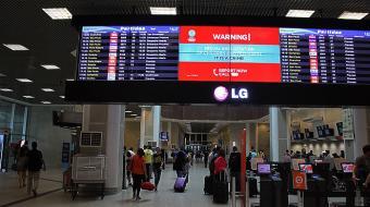 Explora��o sexual: pain�is nos aeroportos trazem alerta aos turistas