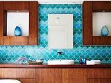 Azulejo 'escama de peixe' � nova tend�ncia de decora��o para sua casa; veja inspira��es