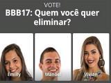 Emilly, Manoel e Vivian: um deles deixará a casa do BBB 17