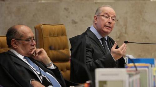 José Cruz/Agência Brasil - Ministros do STF Gilmar Mendes e Celso de Mello durante sessão plenária de abertura do Ano Judiciário de 2017 e homenagem ao ministro Teori Zavascki