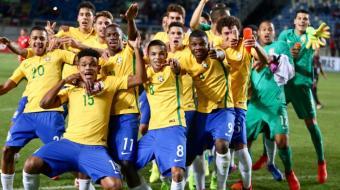 Brasil conquista 12º título do Sul-Americano Sub-17 com goleada sobre o Chile