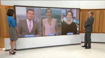 Apresentadores do 'Bom Dia Brasil' imitam Mussum ao vivo; assista!
