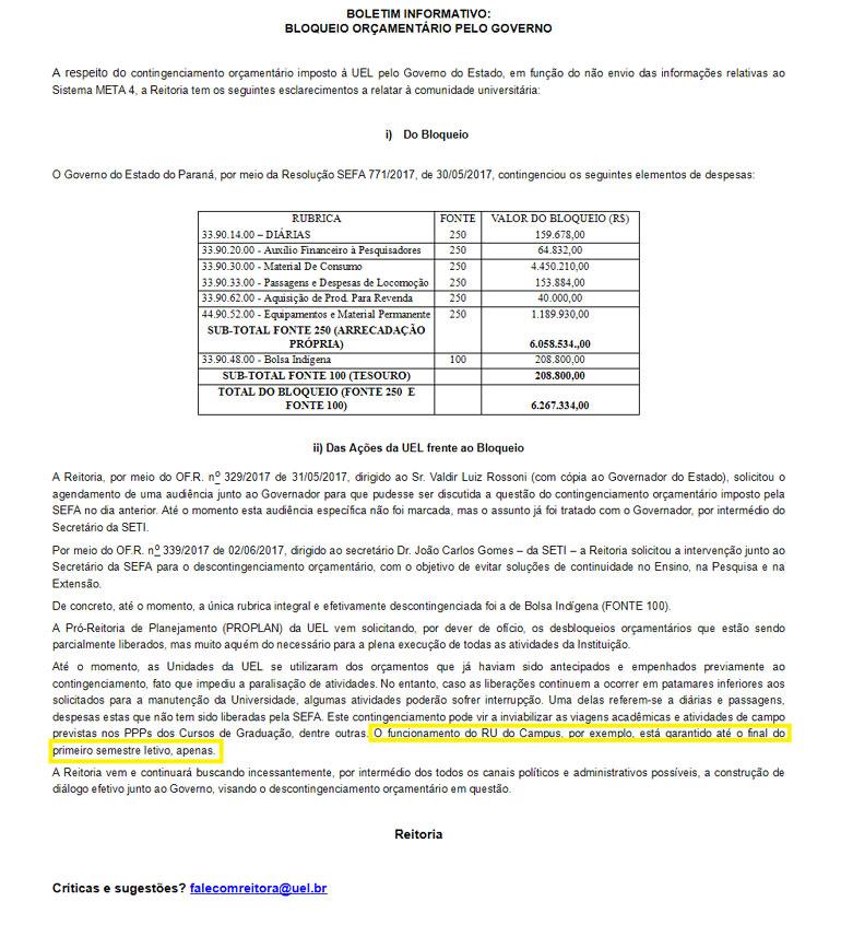 Divulgação/UEL