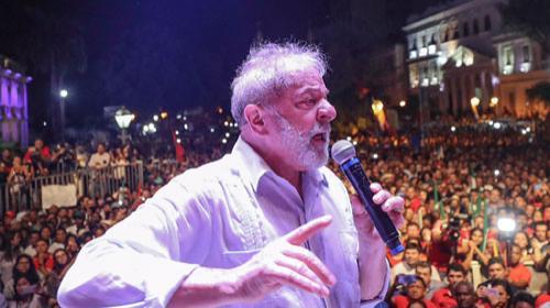 Ricardo Stuckert/Fotos Públicas - Ato de encerramento da Caravana Lula pelo Brasil, no Maranhão