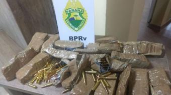 PRE apreende munição de fuzil 762 em Rolândia