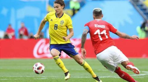 6c1a05542f560 Suécia derrota a Suíça e volta às quartas da Copa após 24 anos ...